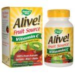 Nature's Way Alive! Fruit Source Vitamin C 120 Veg Caps Immune Support