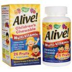 Nature's Way Alive! Children's Multi-Vitamin Orange & Berry 120 Chewables Children's Multivitamins
