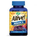 Nature's Way Alive! Men's Gummy Vitamins 75 Gummies Vitamin C Multivitamins