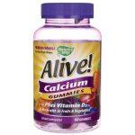 Nature's Way Alive! Calcium + D3 Gummies 60 Gummies Bone Health