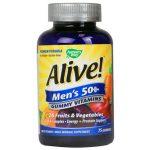 Nature's Way Alive! Men's 50+ Gummy Vitamins 75 Gummies Multivitamins