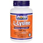 NOW Foods L-Lysine 500 mg 500 mg 100 Caps Amino Acids