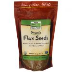 NOW Foods Organic Flax Seed 16 oz Package Essential Fatty Acids