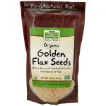 NOW Foods Organic Golden Flax Seeds 16 oz Package Essential Fatty Acids
