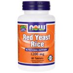 NOW Foods Red Yeast Rice Extract 1,200 mg 60 Tabs Cholesterol Support