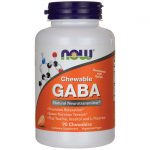 NOW Foods Chewable Gaba – Orange 90 Chewables Stress and Mood