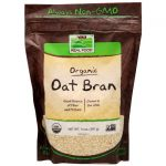 NOW Foods Organic Oat Bran 14 oz Package Colon Care