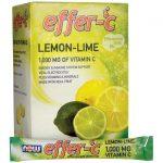 NOW Foods Effer-C Effervescent Drink Mix Lemon-Lime 30 Packets Immune Support