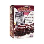 NOW Foods Effer-C Effervescent Drink Mix Elderberry 30 Packets Immune Support