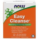 NOW Foods Easy Cleanse Am/Pm 60 Each Vcaps Cleansing and Detoxification
