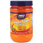 NOW Foods Amino Power Pre-Workout – Raspberry Flavor 21.16 oz Powder Energy