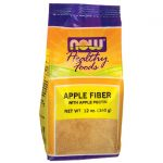 NOW Foods Apple Fiber With Pectin 12 oz Package Digestive Health and Fiber