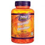NOW Foods Arginine & Citrulline 500 mg/250 mg 120 Veg Caps Amino Acids