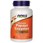 NOW Foods Chewable Papaya Enzymes 180 Lozenges Digestive Health and Fiber