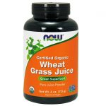 NOW Foods Certified Organic Wheat Grass Juice 4 oz Powder