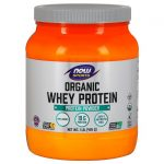 NOW Foods Organic Whey Protein – Natural Unflavored 1 lb Powder