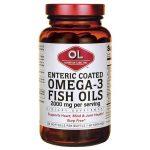 Olympian Labs Enteric Coated Omega-3 Fish Oils 2,000 mg 120 Soft Gels Essential Fatty Acids