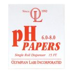 Olympian Labs ph Papers 6.0-8.0 15 ft 1 Unit pH Balance