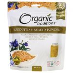 Organic Traditions Sprouted Flax Seed Powder 8 oz Package Essential Fatty Acids