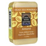 One With Nature Dead Sea Minerals Triple Milled Bar Soap – Almond 7 oz Bars