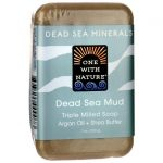 One With Nature Dead Sea Minerals Triple Milled Bar Soap – Mud 7 oz Bars