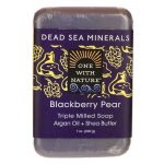 One With Nature Dead Sea Minerals Triple Milled Bar Soap – Blackberry Pear 7 oz Bars