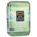 One With Nature Dead Sea Minerals Triple Milled Bar Soap – Eucalyptus 7 oz Bars