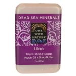 One With Nature Dead Sea Minerals Triple Milled Bar Soap – Lilac 7 oz Bars