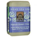 One With Nature Dead Sea Spa French Green Clay Mineral Soap 7 oz Bars