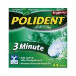 Polident 3 Minute Antibacterial Denture Cleanser 40 Tabs