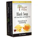 Roots & Fruits Black Soap with Cocoa Butter and Orange Peel 5 oz Bars