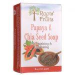 Roots & Fruits Papaya Chia Seed Soap 5 oz Bars
