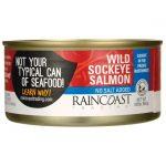 Raincoast Wild Sockeye Salmon No Salt Added 5.65 oz Can Essential Fatty Acids