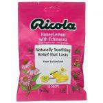 Ricola Honeylemon with Echinacea Cough Suppressant Throat Drop 19 ct Immune Support