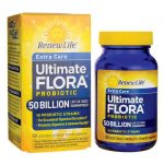 Renew Life Extra Care Ultimate Flora Probiotic – 50 Billion 50 Billion CFU 60 Veg Caps