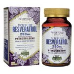 Reserveage Nutrition Resveratrol with All-Natural Pterostilbene 250 mg 60 Veg Caps Anti-Aging