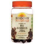 Sundown Naturals Caffeine Free B12 Gummies – Chocolate & Coffee Flavored 1,500 mcg 90 Gummies B Vitamins