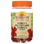 Sundown Naturals Women's Multivitamin Gummies with Biotin – Raspberry 60 Gummies