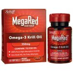 Schiff Megared Superior Omega-3 Krill Oil 350 mg 60 Soft Gels Essential Fatty Acids