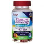 Schiff Digestive Advantage Probiotic Plus Fiber – Natural Fruit 45 Gummies