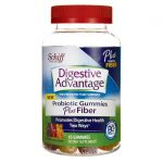 Schiff Digestive Advantage Probiotic Gummies Plus Fiber 800 Million CFU 65 Gummies