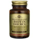 Solgar Enhanced Potency Biotin 1,000 mcg 100 Veg Caps B Vitamins