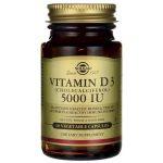 Solgar Vitamin D3 (Cholecalciferol) 5000 Iu 5,000 Iu 60 Veg Caps Bone Health