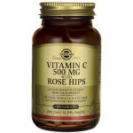 Solgar Vitamin C 500 mg with Rose Hips 500 mg 100 Tabs Immune Support