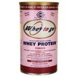 Solgar Whey To Go Protein – Natural Strawberry Flavor 16 oz Powder
