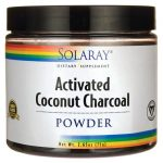 Solaray Activated Coconut Charcoal 2.65 oz Powder Cleansing and Detoxification