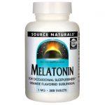 Source Naturals Melatonin – Orange Flavored 1 mg 300 Tabs Sleep and Relaxation