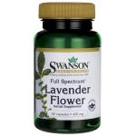 Swanson Premium Full Spectrum Lavender Flower 400 mg 60 Caps Stress and Mood