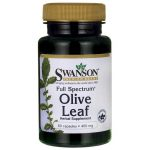 Swanson Premium Full Spectrum Olive Leaf 400 mg 60 Caps Immune Support