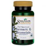 Swanson Premium Full Spectrum Turmeric & Bromelain 60 Caps Digestive Health and Fiber
